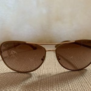Tory Burch Leather Wrap Aviators TY60130 Gradient
